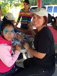 facepaint girl and stephany